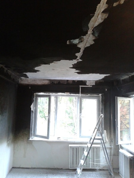 Фото после пожара до